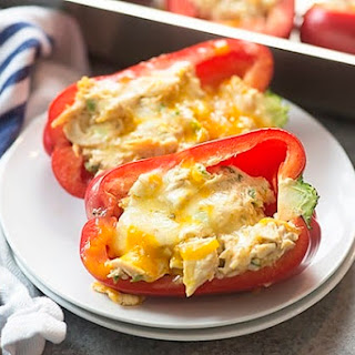 Cream Cheese Chicken Stuffed Peppers.