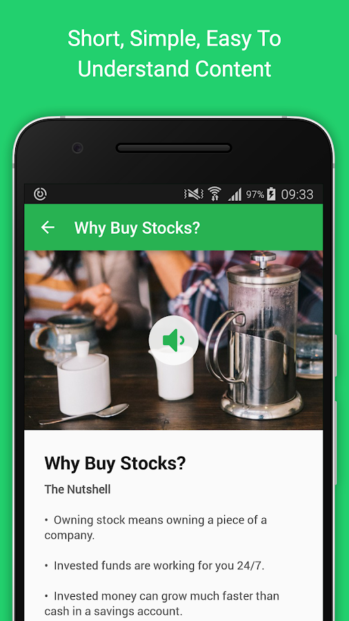 Learn: how to invest in stocks- screenshot