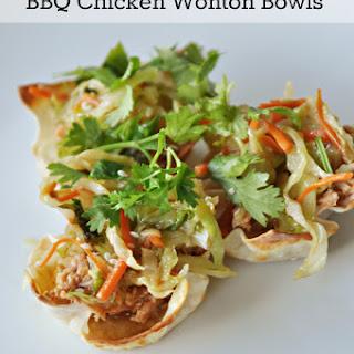 BBQ Chicken Wonton Bowls