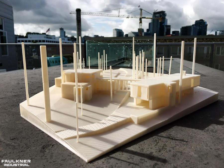 Architectural model home created by Garrett Faulkner