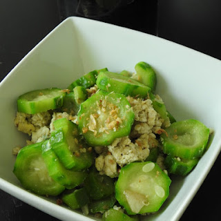 Stir Fried Chinese Okra With Eggs.