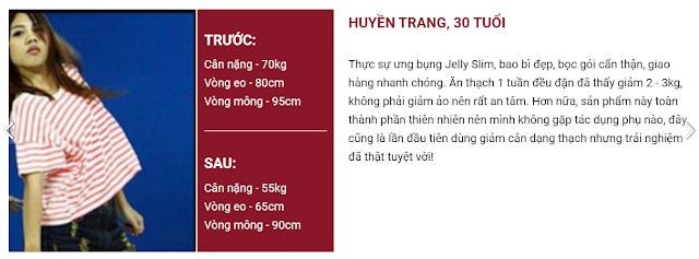 Khách hàng đánh giá thạch giảm cân Jelly Slim