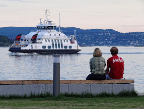 Photo: You and I and the Nesodden ferry.