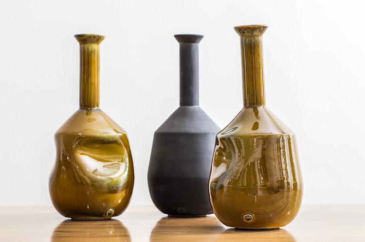 Wiid & Ceramic Matters Tall neck vases