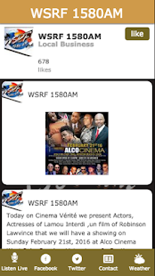 WSRF 1580AM- screenshot thumbnail