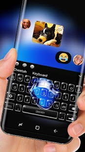 Keyboard Theme for iPhone 7 black sapphire - náhled