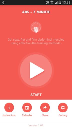 Abs workout 7 minutes screenshot 1