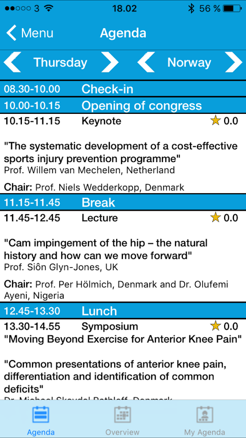 Sports Medicine Congress- screenshot