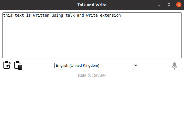 Talk & Write