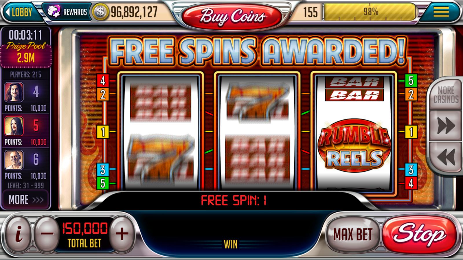 games slots free spins