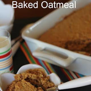 Peanut Butter Baked Oatmeal.