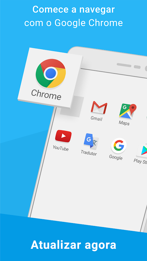 Google Chrome: rápido e seguro: captura de tela