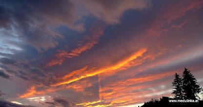 Photo: tolle abendliche wolkenformationen in völkermarkt am 11.3.2012