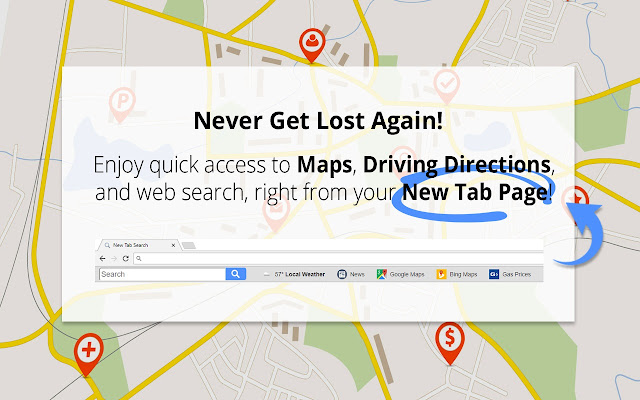 Maps driving directions chrome web store get your maps with just one click using maps driving directions to access directions quicker in the future our free maps sciox Choice Image