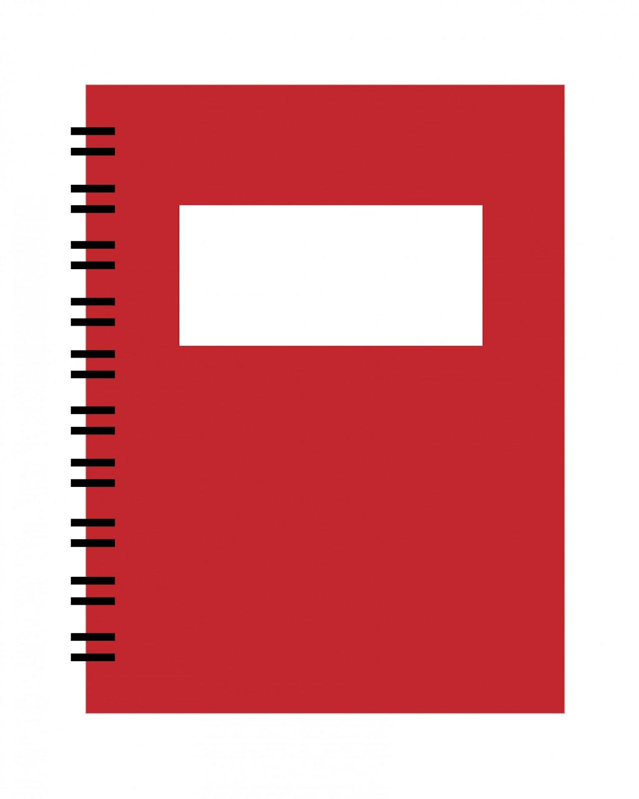 Spiral Notebook Red Clipart