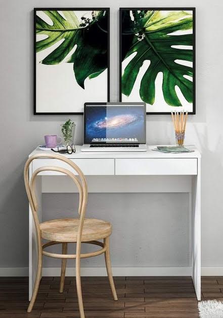 mesa de estudo com 2 gavetas