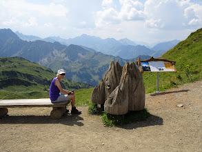Photo: Höfats als Modell auf dem Zeigersattel