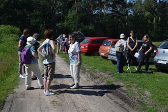Photo: Tu się oficjalnie wszystko zaczęło. Początek trasy - trawiasty parking na drugim brzegu Trzech Wielkich Kałuż (okresowego akwenu w Rezerwacie Krajkowo).