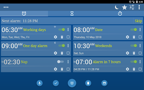 Alarm Clock + Timer + Stopwatch- screenshot thumbnail