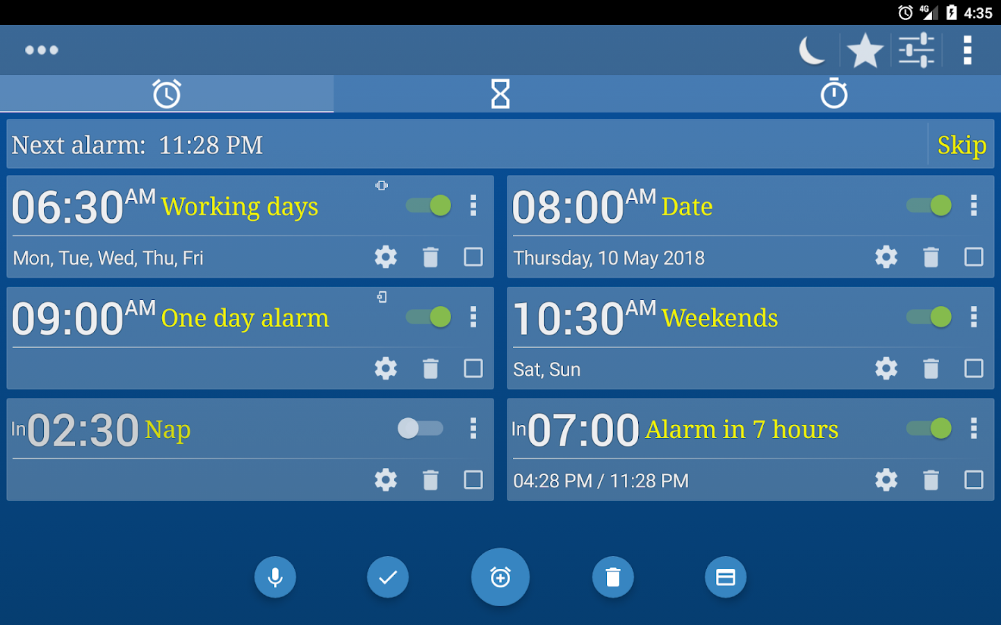 Alarm Clock & Timer & Stopwatch & World Clock- screenshot