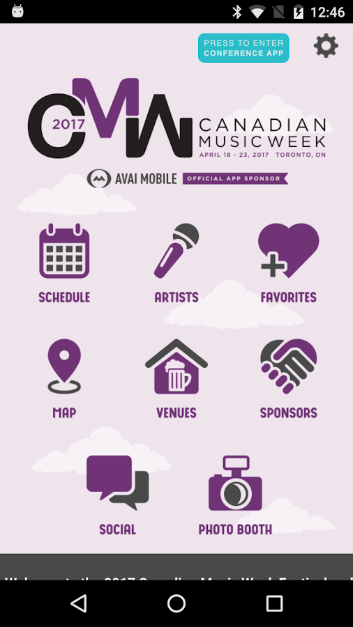 Canadian Music Week- screenshot