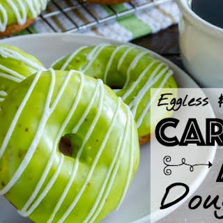 Eggless and Dairy-Free Caramel Apple Doughnuts.
