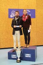 Photo: Double Mixte B 1. (Aurélien Jantzi) (BCO)/Marion Meistermann (ES2B) 2. Geoffrey Rouby (ES2B)/(Camille Weinum) (ASPTT)