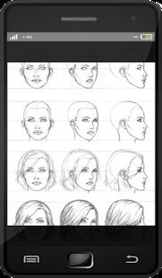 Naučte se kreslit tvář dívky - náhled