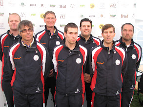 Photo: Great Britain. Brad Shepherd, John McIver, Chris Harding, Michael Smith, Sean Homer, Marc Chapman and Tony Kelly. (Photo: Bengt Svensson)