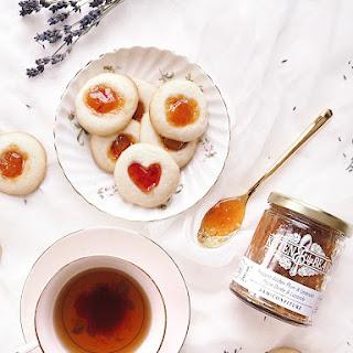 Thumbprint Cookies with Niagara Golden Plum & Lavender Jam.