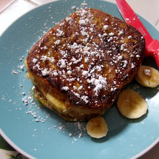 Peanut Butter and Banana Stuffed French Toast