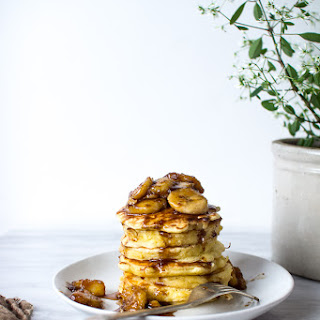 WALNUT AND BANANAS FOSTER PANCAKES