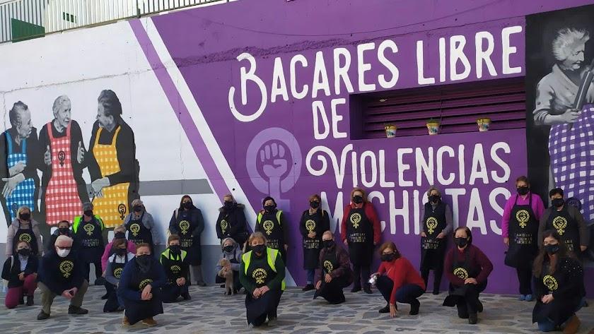 Representantes de la asociación de mujeres Progresistas de Bacares.