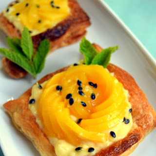 Mango And Passion Fruit Tarts.