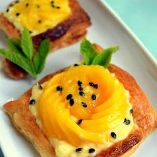 Mango And Passion Fruit Tarts.
