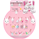 Rabbit Pink Cute Love Theme icon