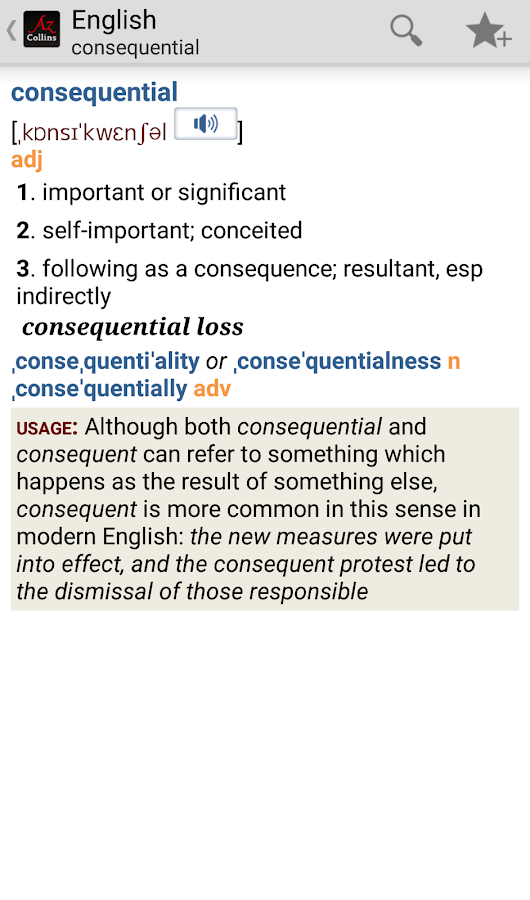 Collins English Dictionary TR - screenshot