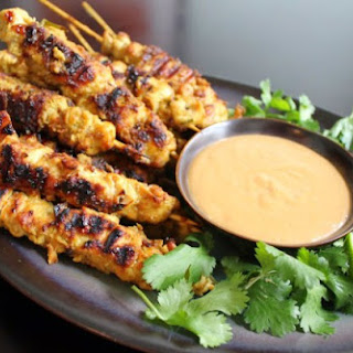 Weight Watchers Grilled Chicken Breast Satay with Peanut Sauce