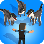 Jurassic Hopper: Crossy Dinosaur Shooter Game Icon