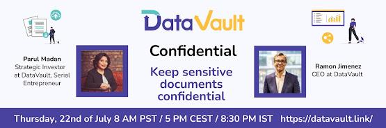 DataVault Confidential: Keep sensitive documents confidential