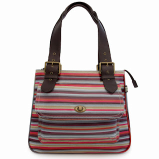 Stripe Classic Shoulder Bag