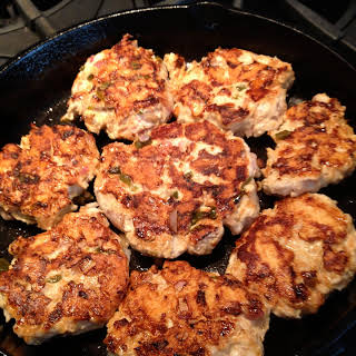 Almost Famous Turkey Burgers with Cilantro Lime Sauce.