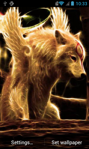 Golden wolf Live Wallpaper
