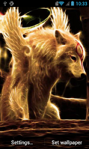 Winged wolf live wallpaper screenshot 0