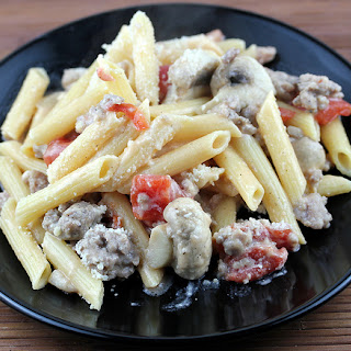 One Dish Sausage and Mushroom Penne