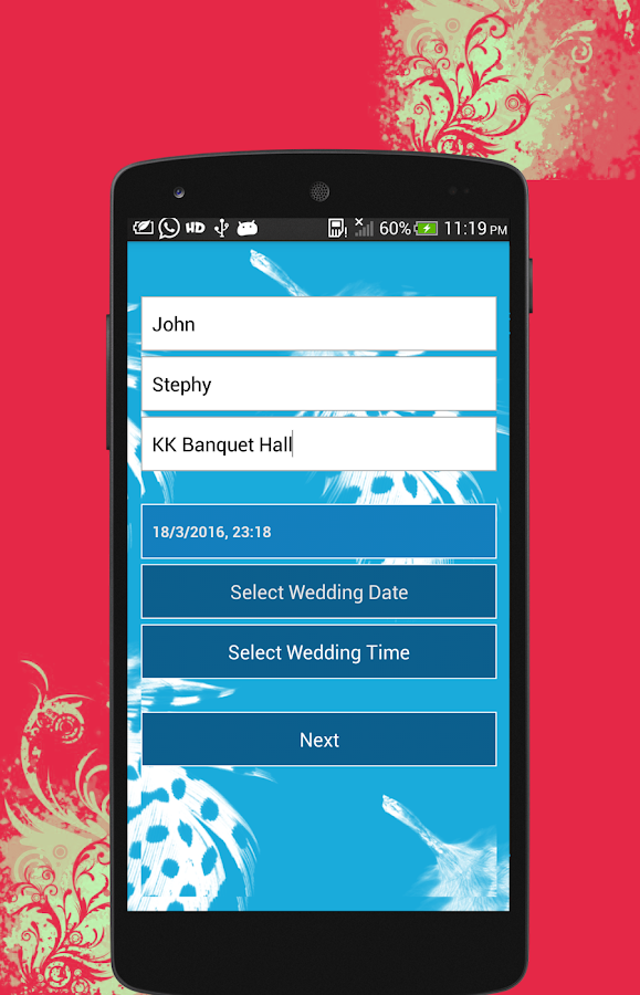 Wedding Invitation Maker Create Beautiful E Cards And Custom Invitations For Party Screenshot