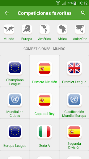 Resultados de Fútbol TV 2.0.4 screenshots 3