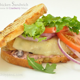 Grilled Chicken Sandwich with Cranberry Mayonnaise