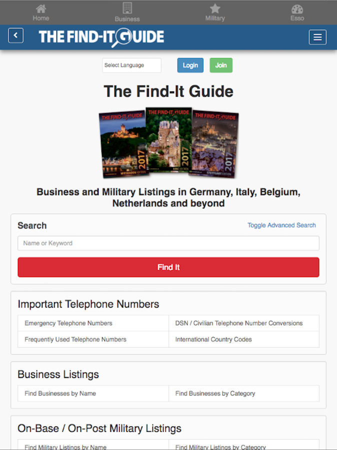 The Find-It Guide- screenshot