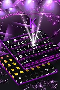 Černá a purpurová klávesnice - náhled